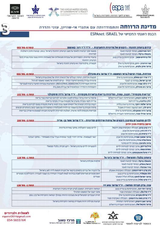 תוכנית הכנס המלאה ESPAnet2014_3